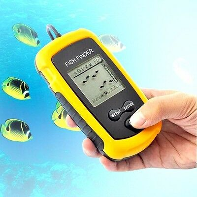 Outdoor Fishing 100m Portable Hot Sonar Sensor Fish Finder Alarm Transducer