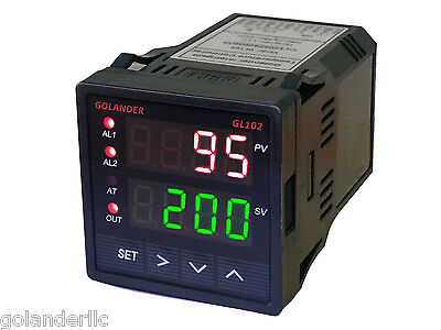 Pid, On/off, Manual Temperature Controller, 1/16 Din