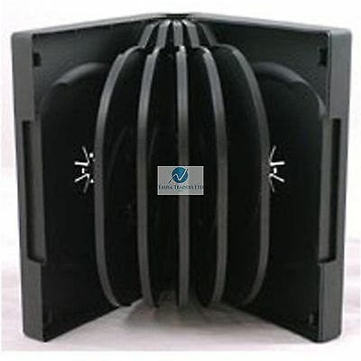 1 x10-WAY REPLACEMENT BLACK DVD CD DISC CASE 10WAY MULTIWAY SLEEVE BLANK WALLET