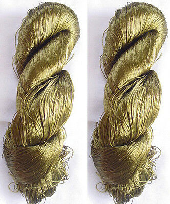 Silk 3 Reel Skeins Yarn Lace Sari Knit Crochet 345g Weaving Thread Knitting Work