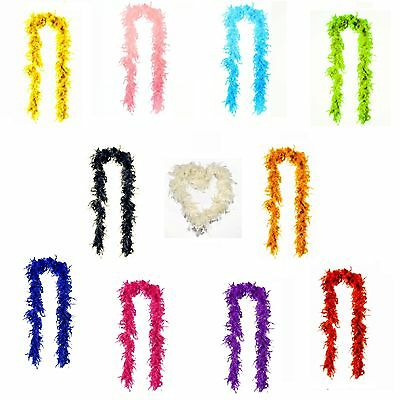 Feather Boa Mix Colour Hen Party Stag Disco Wedding Dance Club Rave Soft 2M Long