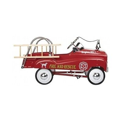 Fire Engine Riding Car Kids Pedal Ride On Fire Truck Outdoor Toddler Toys Racer