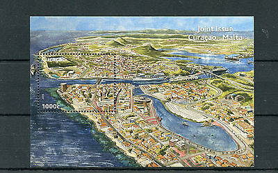 Curacao 2013 MNH Joint Issue Malta 1v S/S Harbour Island Landscapes Tourism