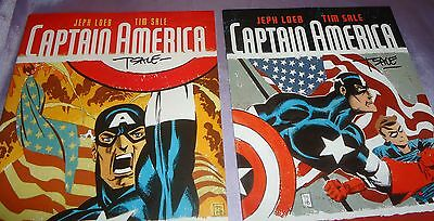 Captain America White #1 & #2~Set~Each Hand-Signed By Tim Sale~Nycc