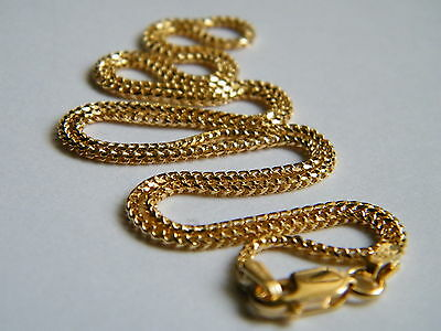 """9ct Yellow Gold Franco Chain Necklace 18""""/45cm x 1.4mm thick Top Quality 9K/.375"""