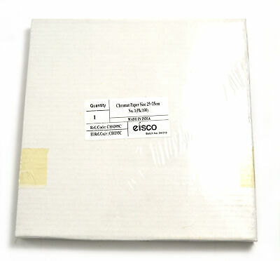 """Chromatography Filter Paper Sheet 25cm x 25cm (9.84"""" x 9.84"""") Pack of 100"""