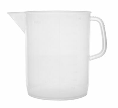 Eisco Labs 5 Liter Polypropylene Beaker with Handle and Spout, 250ml graduations