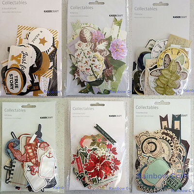 Kaisercraft Die Cuts collectables Pawfect Dog, Wildflower, Island Escape