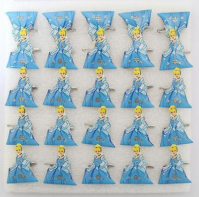 Wholesale Lot Cinderella LED Flashing Light Up Badge/Brooch Pins Christmas T006