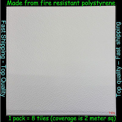 Polystyrene Ceiling Tile / Wall Panels DIY Decorating Safety Approved 2M² T101