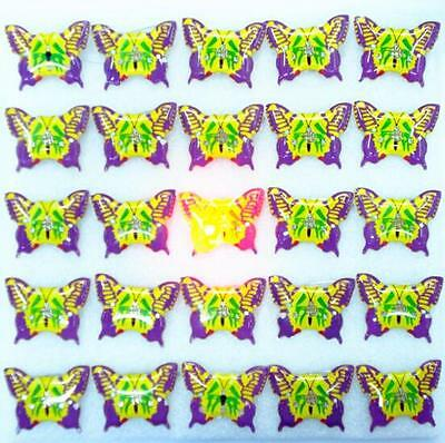 Lot Green Butterfly LED Flashing Light Up Badge/Brooch Pins Christmas T014