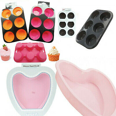 All Baking Silicone Muffin Loaf Pan Cup Cake Non-Sticky Tray Mould Home Bakeware