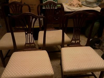 Estate Sale Set of 4 Antique English Side Chairs