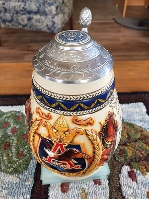 Anheuser-Bush 1997 Collectors Club Beer stein No 34872