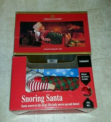 Northpole Productions Gemmy Industries Corp Snoring Santa & Mainstreet Mrs Claus