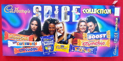 Spice Girls 1997 uk unopened Cadbury's candy deluxe long box PRISTINE MINT