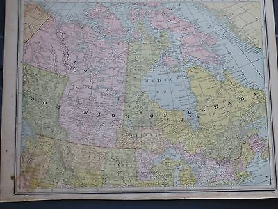 1888 Cram Original  Antique  MAP  DOMINION OF  127 Years Old