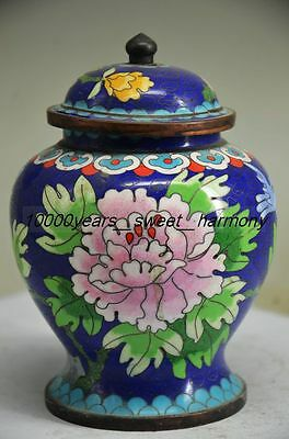 Chinese Exquisite Cloisonne Flower Jar