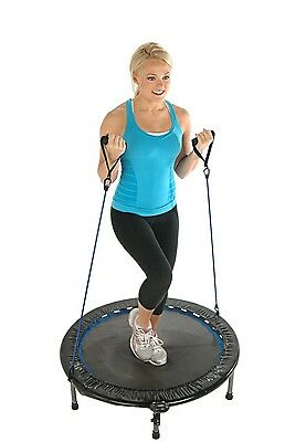 Cardio Fitness Trampoline Workout Bouncer Exercise Mini Gym Indoor Monitor Track