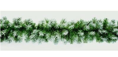 Premier Snow Tipped Effect Artificial Green Christmas Garland Decoration 2.7M