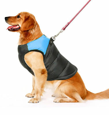 Large Dog Jacket Pet Clothes Spring Outdoor Padded Harness Vest Waterproof Coat