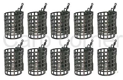 10 x Carp Coarse Match Barbel Fishing Tackle Round Cage Metal Feeders 25g NGT