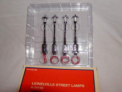 Lionel 6-24156 Lionelville Street Lamps 2014 O 027 New MIB Illumination set  4
