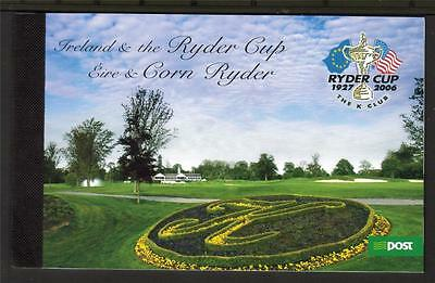 Ireland 2005 The Ryder Cup €9.50 Booklet Sp4