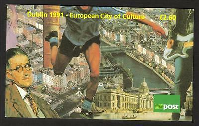 Ireland 1991 Dublin European City Of Culture £2.60 Booklet Sb38