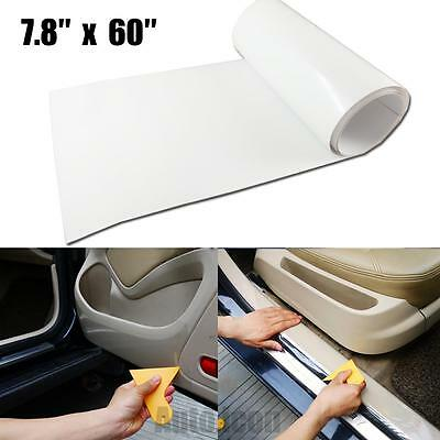 "7.8"" x 60"" Clear Cars Door Sill Edge Paint Protection Scratch Film Vinyl Sheet"
