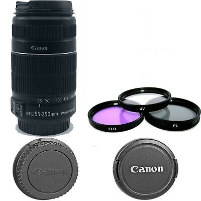 Canon EF-S 55-250mm F4-5.6 IS STM Lens *8546B002* NEW! with Filter Kit