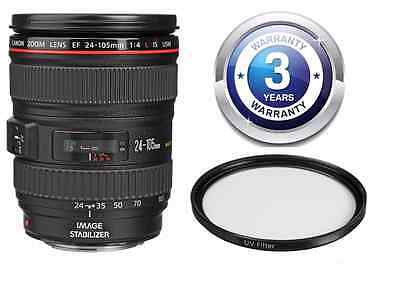 Canon EF 24-105mm f/4L  Lens 24-105 W/ FREE UV Filter & 3 Year Warranty KIT NEW!