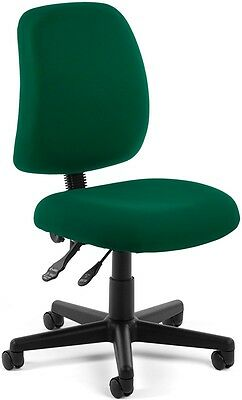 Office Medical Computer Task Chair in Green Stain Resistant Fabric -Clinic Chair