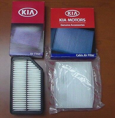 Genuine Kia Soul 2 Piece Filter Kit OEM Engine and A/C Cabin Air Filter Factory