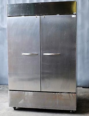 Used Beverage Air HF2-1S 2 Door Reach in Freezer, Excellent, Free Shipping!