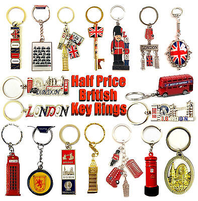 Union Jack Keyrings - London Souvenirs Keychains - England Scotland Key Rings