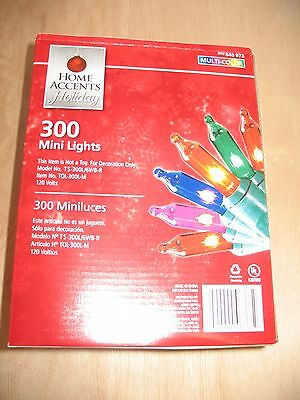 "300 multi color MINI ICICLE LIGHTS WEDDING CHRISTMAS WHITE WIRE 13' 3""~New"