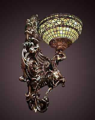 Large Ornate 19th Century Louis XV Bronze Griffin Sconce