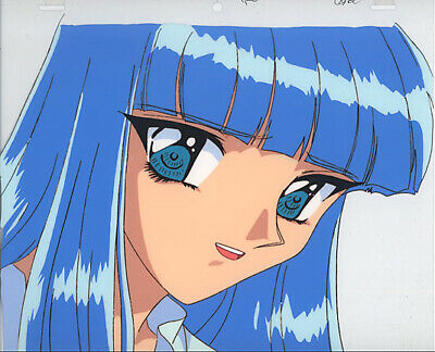 Magic Knight Rayearth Anime Cel Beautiful Umi Ryuuzaki Close-up Clamp