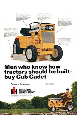 Poster IH Cub Cadet Reproduction Advertising Garage Shop Decor
