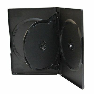 50 ESTUCHES / CAJAS TRIPLES - 3 DVD - ESTANDAR 14mm - con bandeja interior - CD