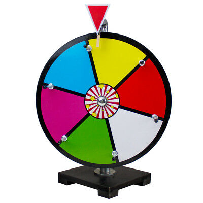 12 Inch Multi Color Dry Erase Spinning Prize Wheel for Business Tradeshow Events