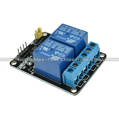 12V Two 2 Channel Relay Module With optocoupler For PIC AVR DSP ARM Arduino CF