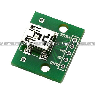5pcs Mini USB to DIP Adapter Converter for 2.54mm PCB Board DIY Power Supply CF