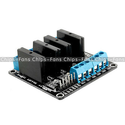 5V 4 Channel OMRON SSR G3MB-202P Solid State Relay Module with Resistive Fuse CF