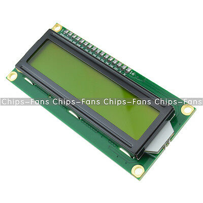 5Pcs 1602 16x2 Character LCD Display Module HD44780 Controller Yellow Blacklight