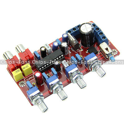 LM1036 HIFI Preamp Tone Board Bass Treble Volume Control Pre-amplifier Board Kit
