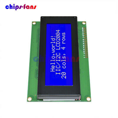 2004 204 20x4 Character 5V LCD Display Module HD44780 Controller Blue Blacklight