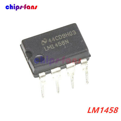 10Pcs Lm1458 1458 Lm1458N  Ic Dual Operational Amplifier