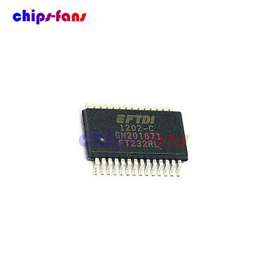 10Pcs Original FTDI FT232 FT232RL USB TO SERIAL UART SSOP-28 IC CF